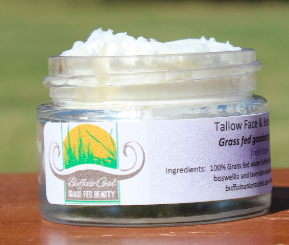 """I'm a huge fan of using tallow for skin care, so I was delighted to meet Shalley """"the Buffalo Gal""""! She and her family raise water buffalo and use that nourishing grass-fed tallow for her Buffalo Gal Grass-Fed skin care products. Get to know Shalley, more about tallow in skin care, and how to make your own in this podcast. Plus a coupon for 10% off your order with Shalley, and... the tip of the week! 