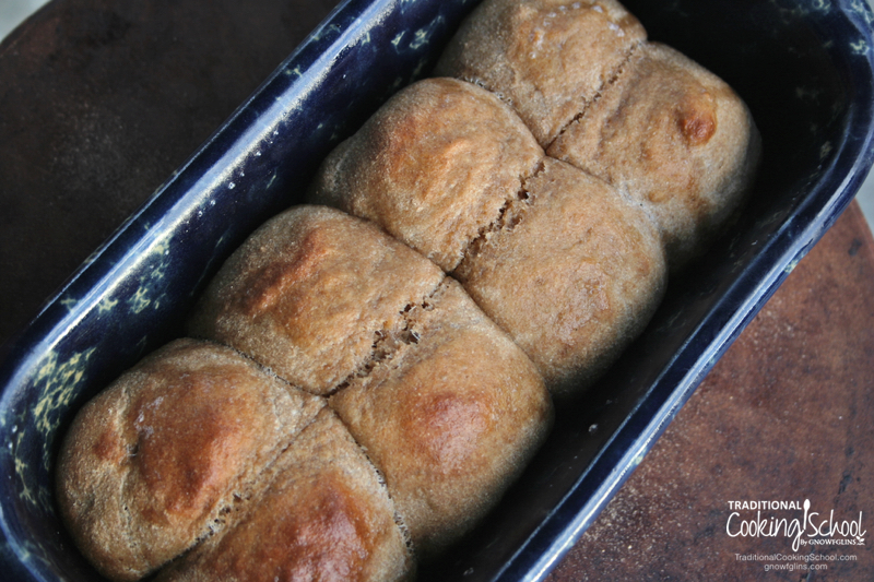 Sourdough Soda Bread   What if I told you that you could have the same tastiness of the sourdough English muffin but with even less effort? Enjoy and join my victory dance as we enjoy slice after slice of nourishing, whole grain, sourdough goodness! Get cinnamon swirl bread, mini loaves, and even sourdough dinner rolls with this versatile recipe.   TraditionalCookingSchool.com