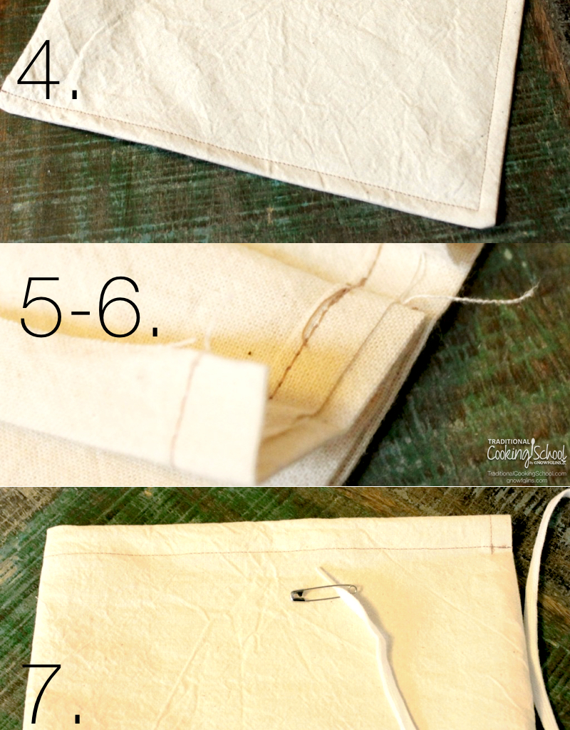 If you can sew a straight line, you can make your own unbleached cotton milk bag in about twenty minutes for only a few dollars. A nut milk bag allows you to make delicious nut and seed milks quickly, efficiently, and with less mess.   TraditionalCookingSchool.com