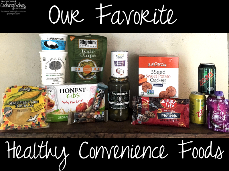As much as I love sourcing and cooking real foods, I don't want to (and can't) spend my every waking moment in the kitchen. So I rely on some store-bought *healthy* convenience foods to make my life just a little bit easier and more fun. | TraditionalCookingSchool.com