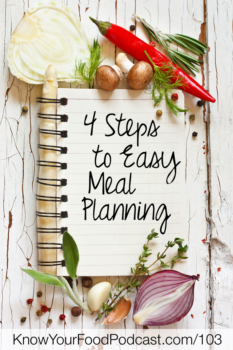 The #1 most common question I get is how to meal plan with traditional foods. But, important caveat -- without spending a lot of time or a ton of money on fancy foods. Here's how you can set up a meal plan that works for your family in 4 simple steps. | KnowYourFoodPodcast.com/103