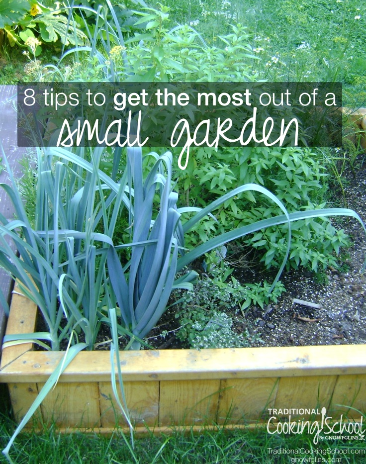 8 Tips To Get The Most Out Of A Small Garden | If you have a small garden, you know it's a challenge to fit everything in. Here are 8 tips to help you to get the most out of your small garden space. | TraditionalCookingSchool.com