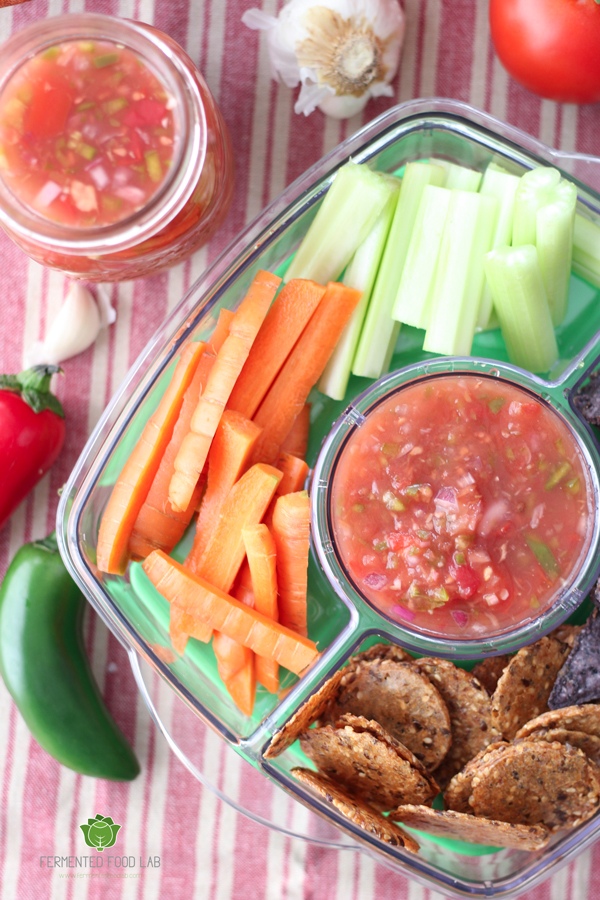 50 Fermented Salsas, Dips, & Spreads | My family are huge fans of my homemade salsa, bean dip, and pesto -- which are all lacto-fermented. As I put together this round-up of 50 amazingly healthy and colorful fermented salsas, dips, and spreads, my eyes were opened to all the ways I can add even more beneficial bacteria into our foods... and probably without anyone noticing. ;) | TraditionalCookingSchool.com