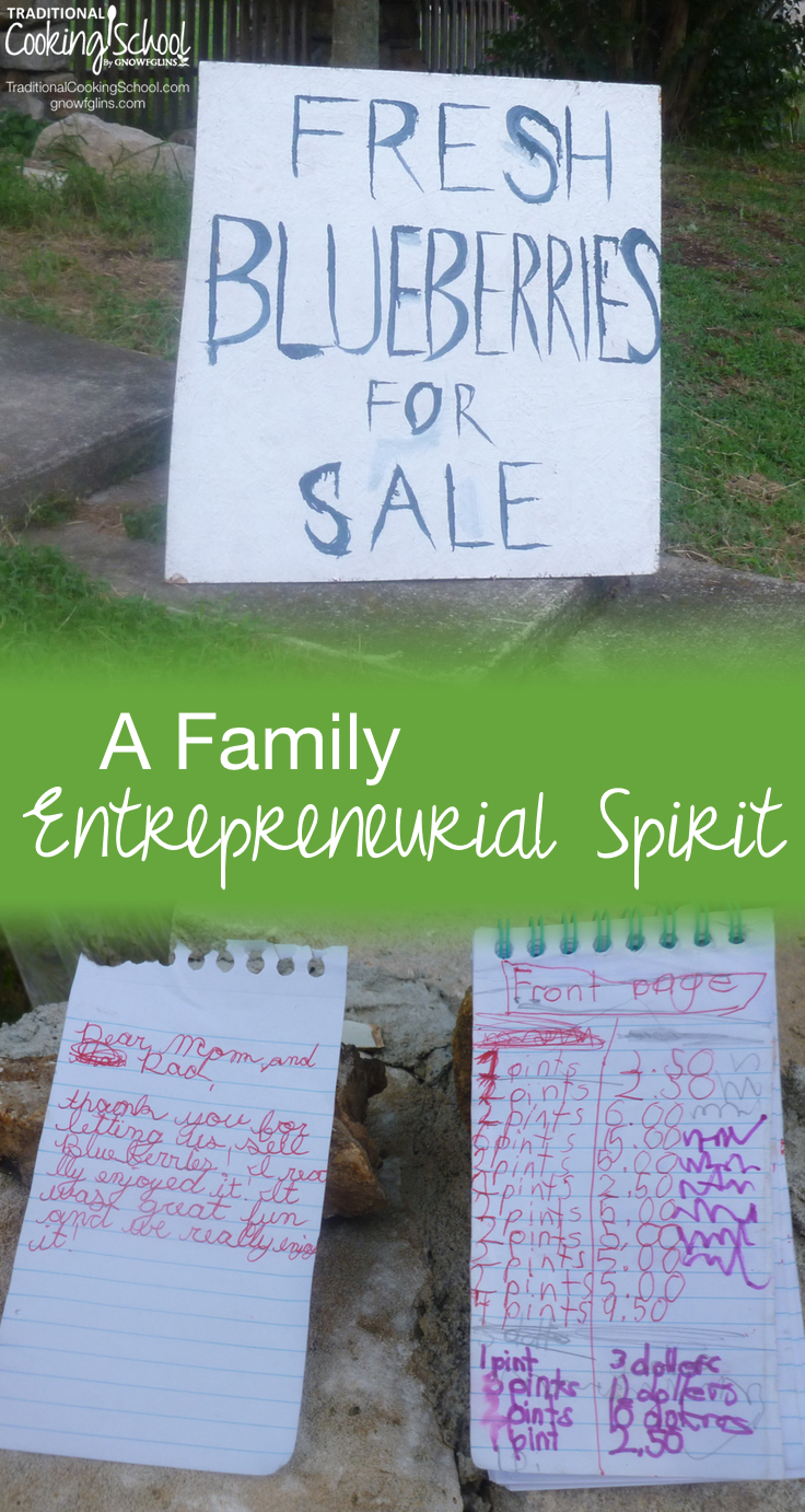 A Family Entrepreneurial Spirit | We purchased our home thrilled with everything about it -- except the busy road on which it is situated. Instead of bemoaning our problem, we've been thinking of ways to turn the lemon of traffic into lemonade. ;) This is the story of how our family's entrepreneurial spirit is blooming. | TraditionalCookingSchool.com