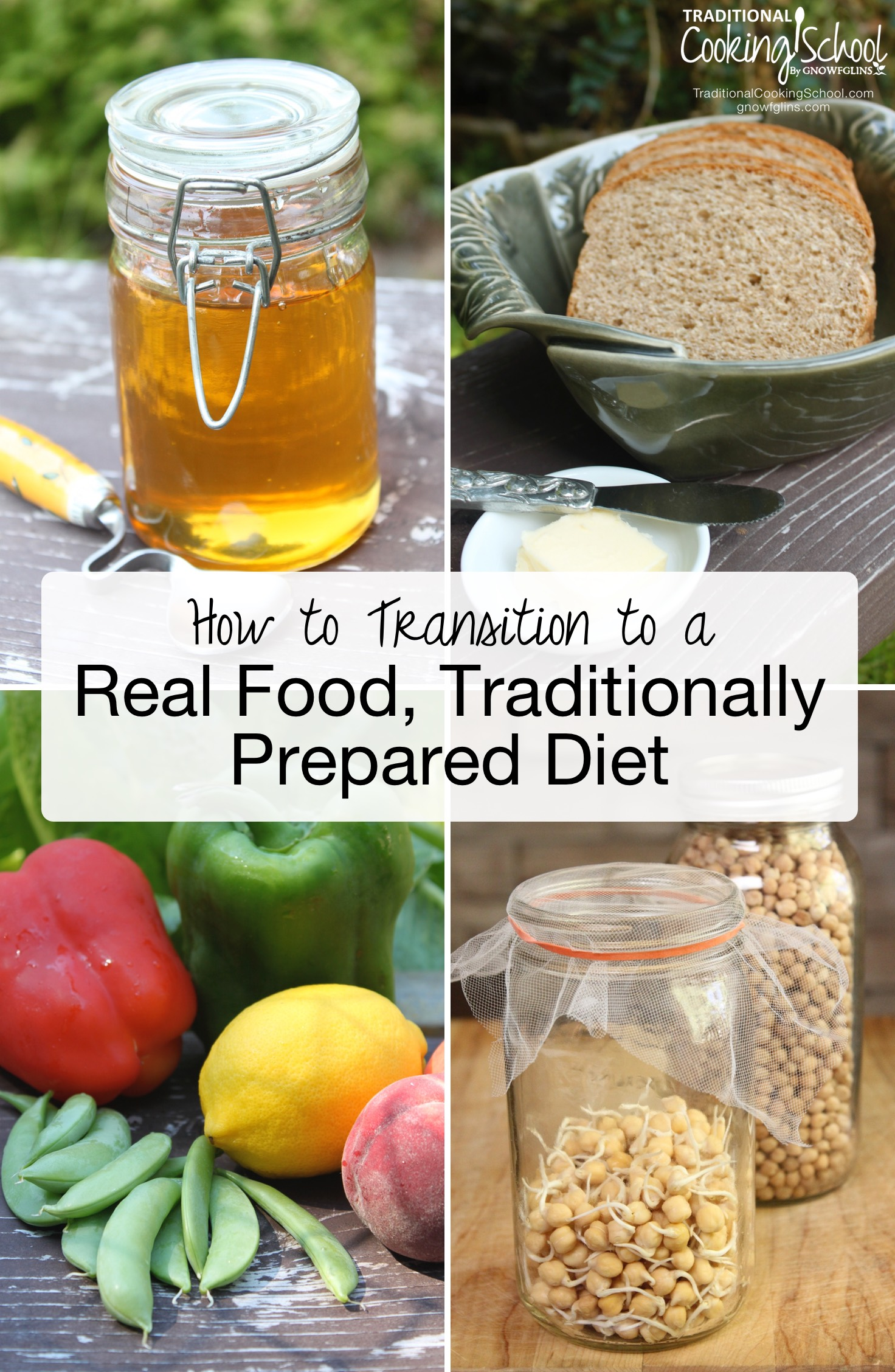 How To Transition To A Real Food, Traditionally Prepared Diet   You've decided to change your diet to traditionally prepared foods. Where do you begin? You need a plan -- and here are 10 steps that teach you how to transition to a Real Food traditional diet.   TraditionalCookingSchool.com