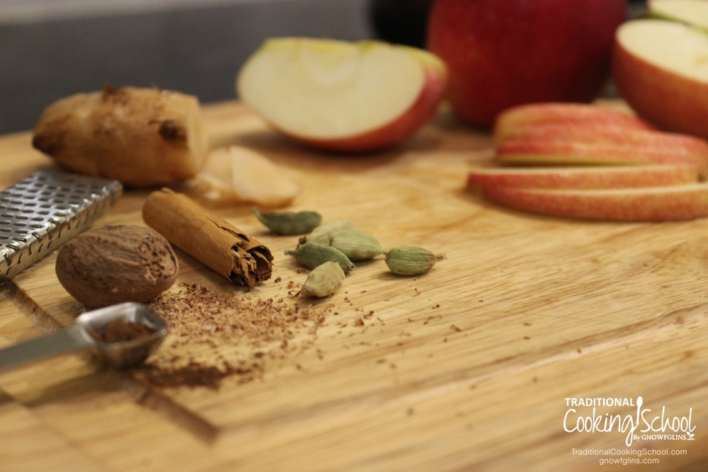 5 Kombucha Flavors for Fall | Kombucha can be expensive to purchase, but it costs just pennies to make at home! Once you get the hang of it, it's time to experiment with flavorings. Here are 5 fun spiced and fruit flavorings for Fall. | TraditionalCookingSchool.com