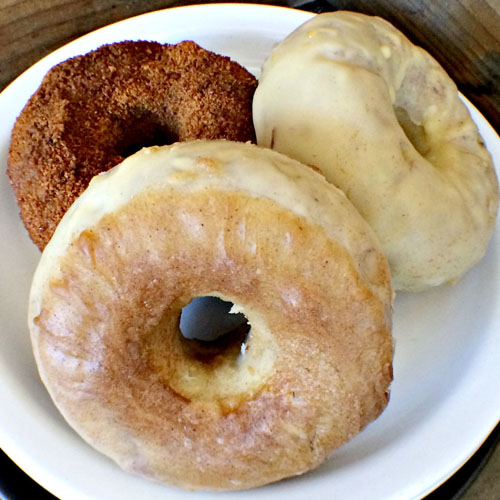 Donuts... There's nothing like 'em! These sourdough gluten-free donuts without refined sweeteners raise the bar. They may just become a new staple!