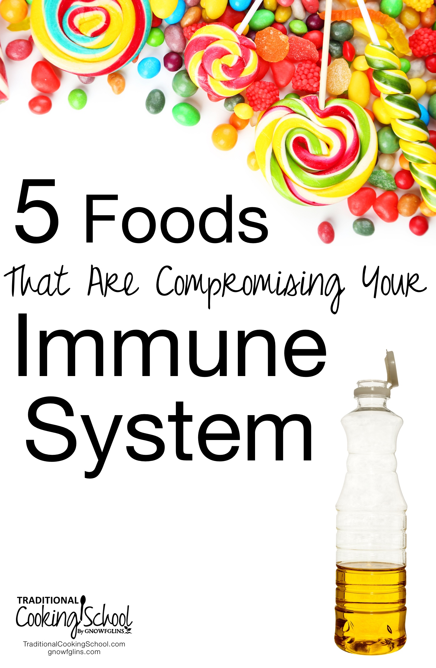 5 Foods That Are Compromising Your Immune System | The one thing that could be hurting your immune system? It's not how much you exercise, what supplements you take, or what natural practitioner you visit. Can you guess what that one thing is? It's the food you eat! Here are the top five foods you can reduce or eliminate for the sake of your immune system. | TraditionalCookingSchool.com