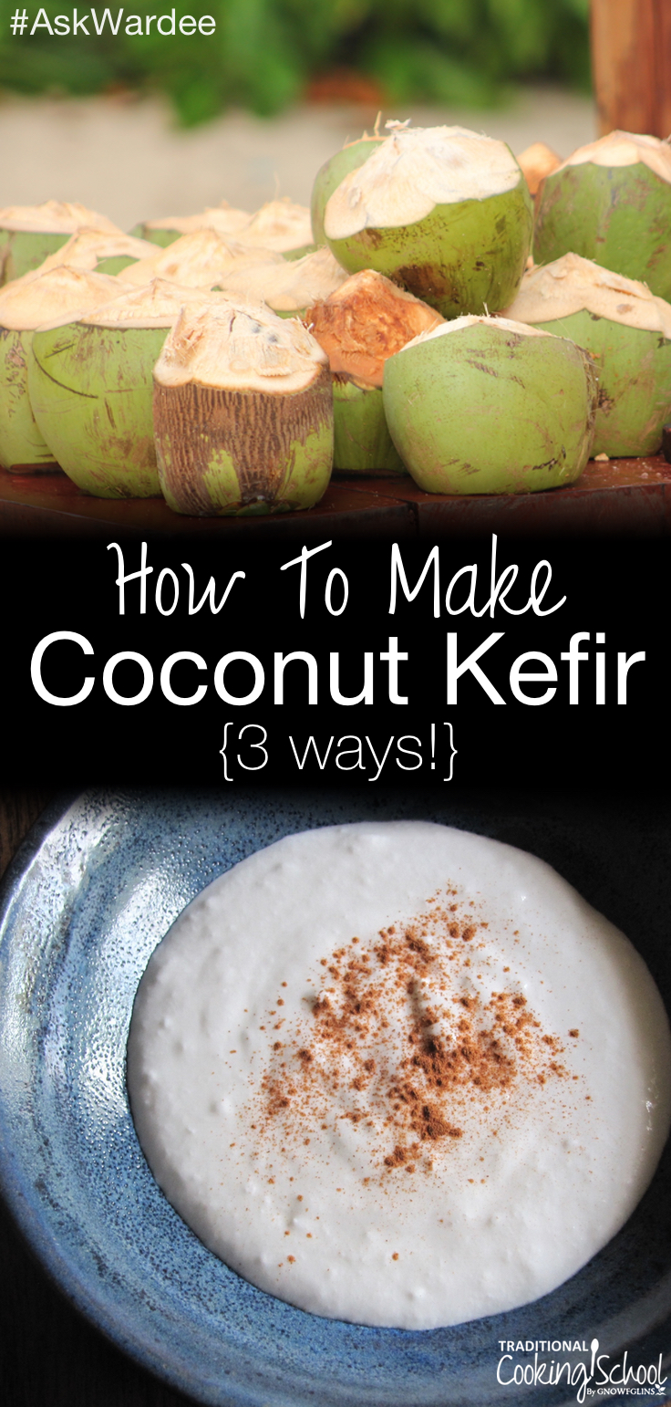 """How do I make coconut kefir?"" Watch or listen to learn about the 3 varieties of coconut kefir, and how to make them! 