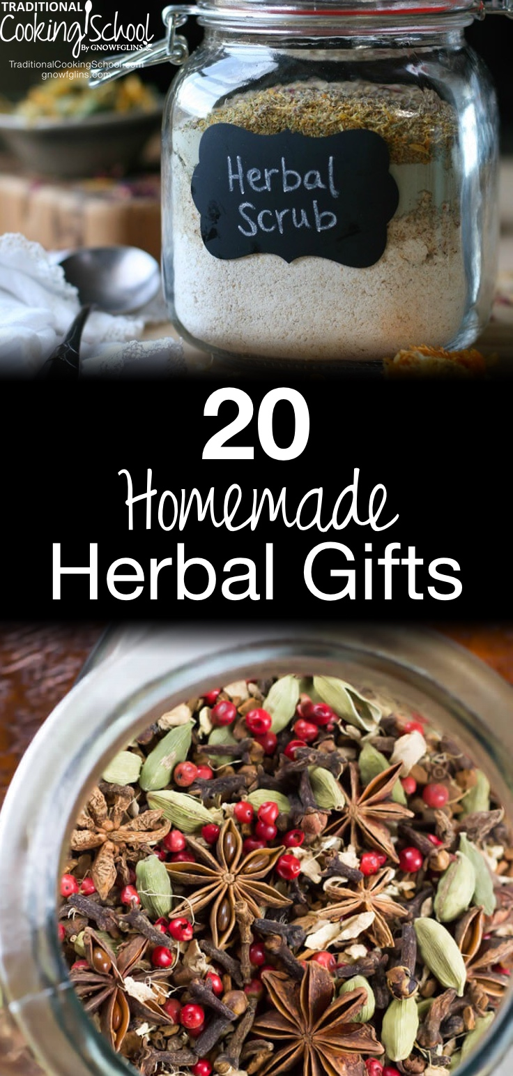 20 homemade herbal gifts traditional cooking school gnowfglins maing 20 homemade herbal gifts are you ready to be inspired with herbal gift ideas that negle Image collections