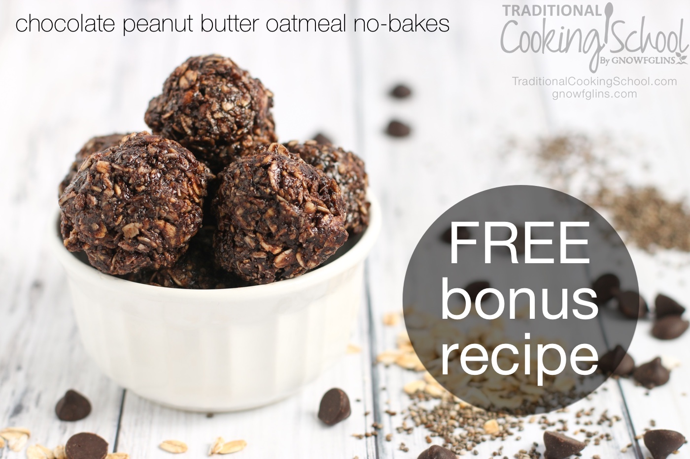 Healthy Oatmeal No-Bake Cookies | Traditional Cooking School