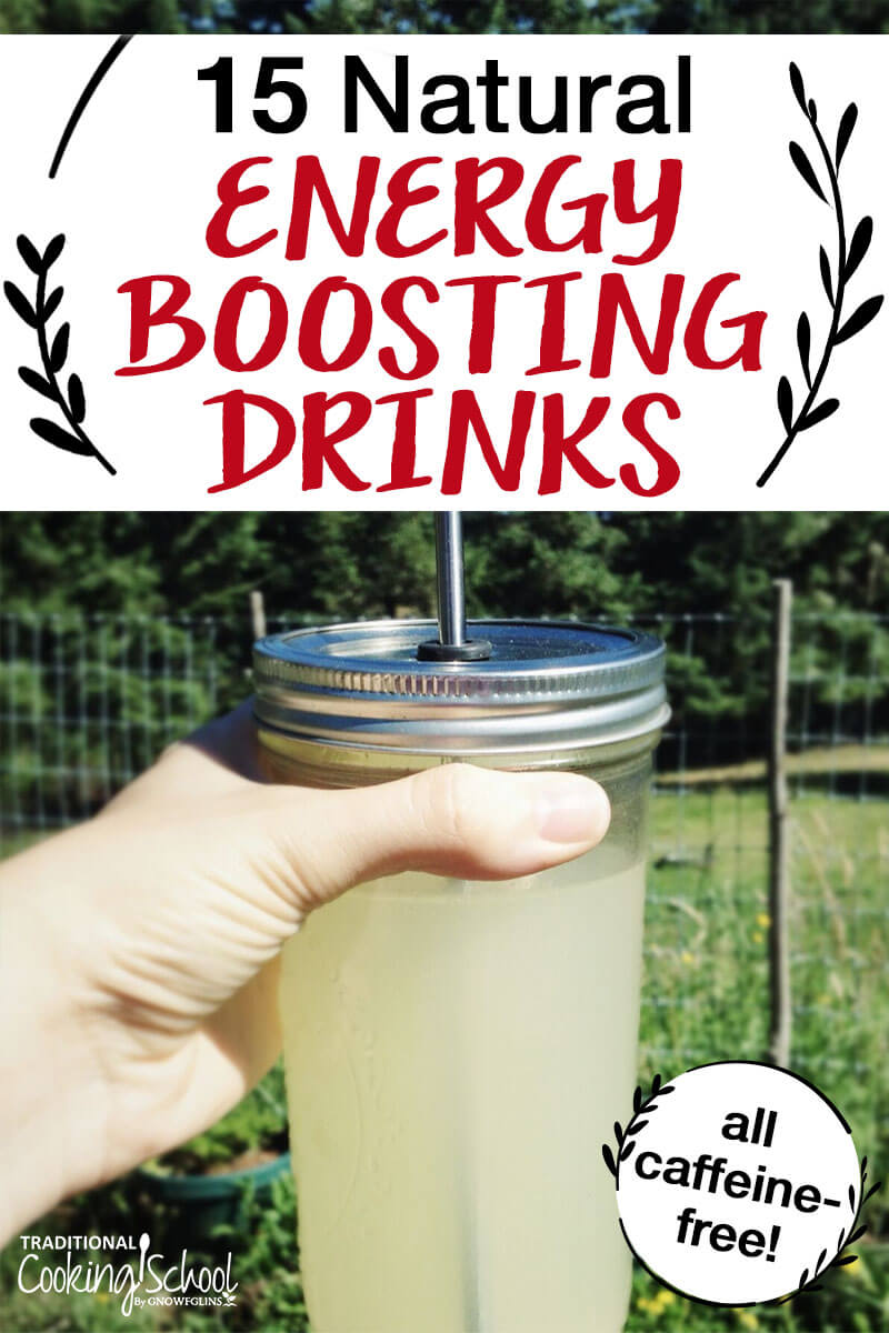 natural energy-boosting drinks with hand holding lemon water
