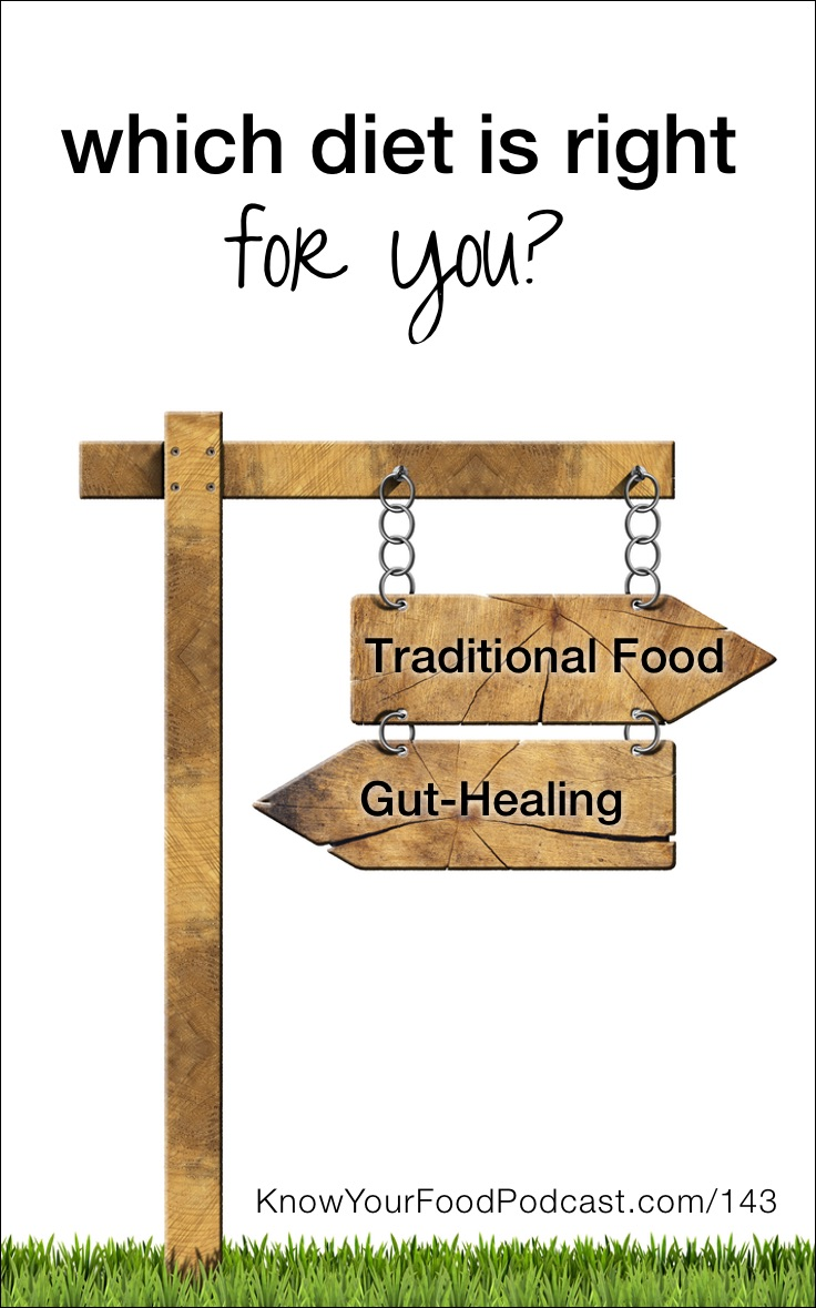 "Which Diet Is Right For You: Traditional Food or Gut-Healing? | ""Do I need to go on a gut-healing diet? Or is a traditional food diet enough?"" This is a great question, and I get it a lot, most recently from Neala M. I'm answering it today, including giving you a bird's eye view of what each diet entails -- both the similarities and differences -- so you can choose the right path for you. 