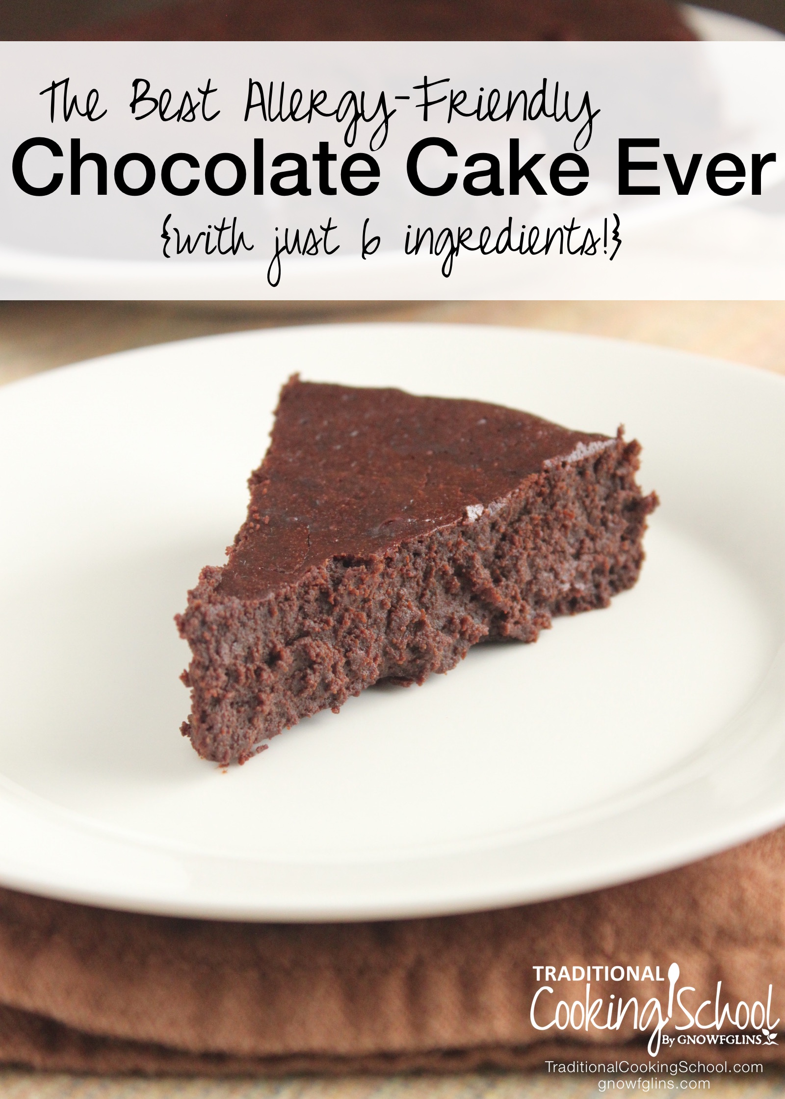 The Best Allergy-Friendly Chocolate Cake Ever | The best chocolate cake ever... I know you've heard that before. Yet many of you wanted a cake that was not just grain-free, but also dairy-free, nut-free and refined-sugar free, too. You asked, and I answered! This cake is all that, and still tastes like the best chocolate cake ever. | TraditionalCookingSchool.com