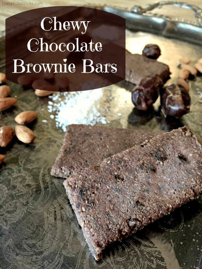 chewy chocolate brownie bars
