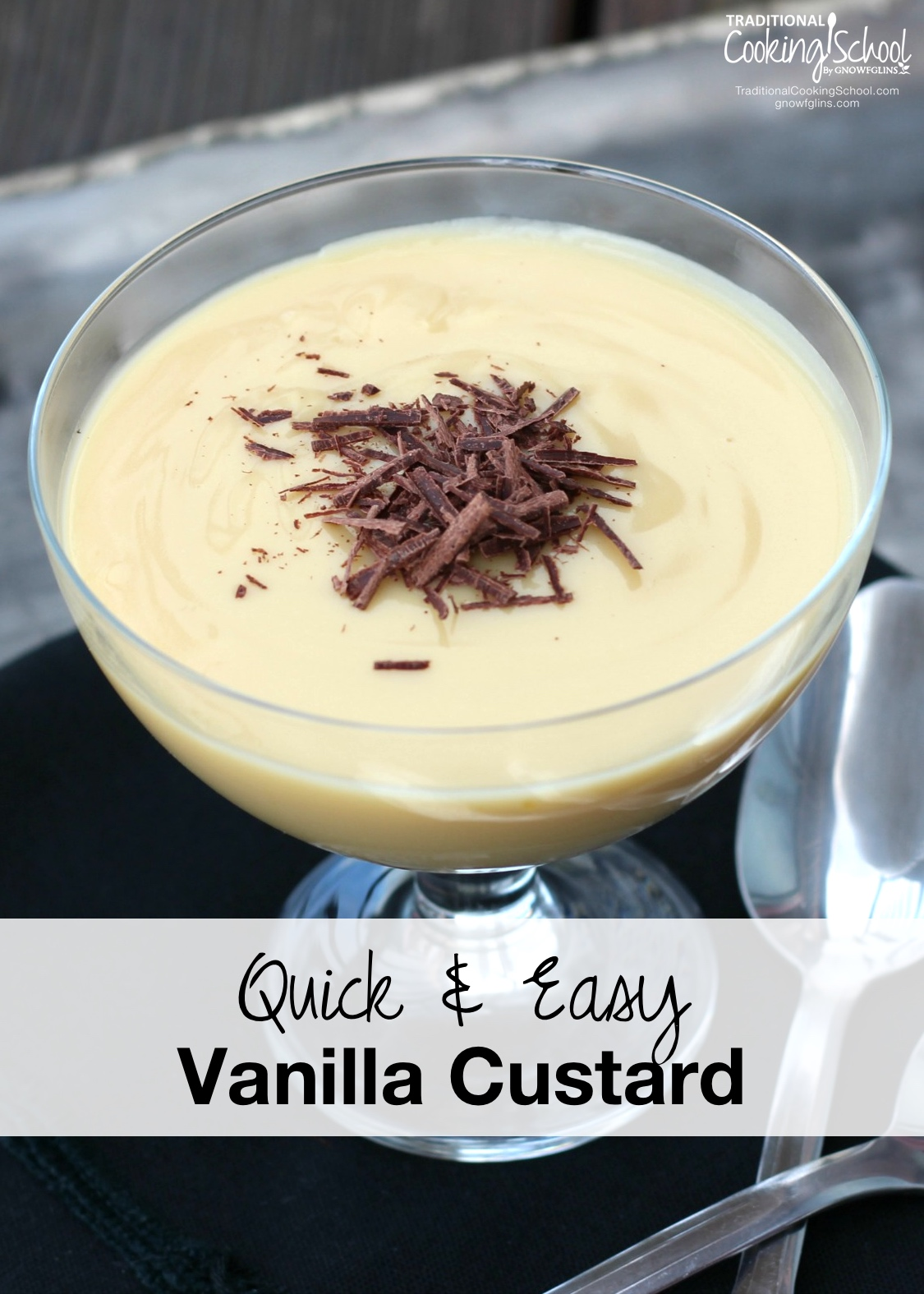"""Quick and Easy Vanilla Custard   """"What's your favorite dessert? Only one thing trumps ice cream in my heart... And that's custard. Here, I've created a grain-free version that is rich, comforting, and easy."""" -- Megan Stevens   TraditionalCookingSchool.com"""