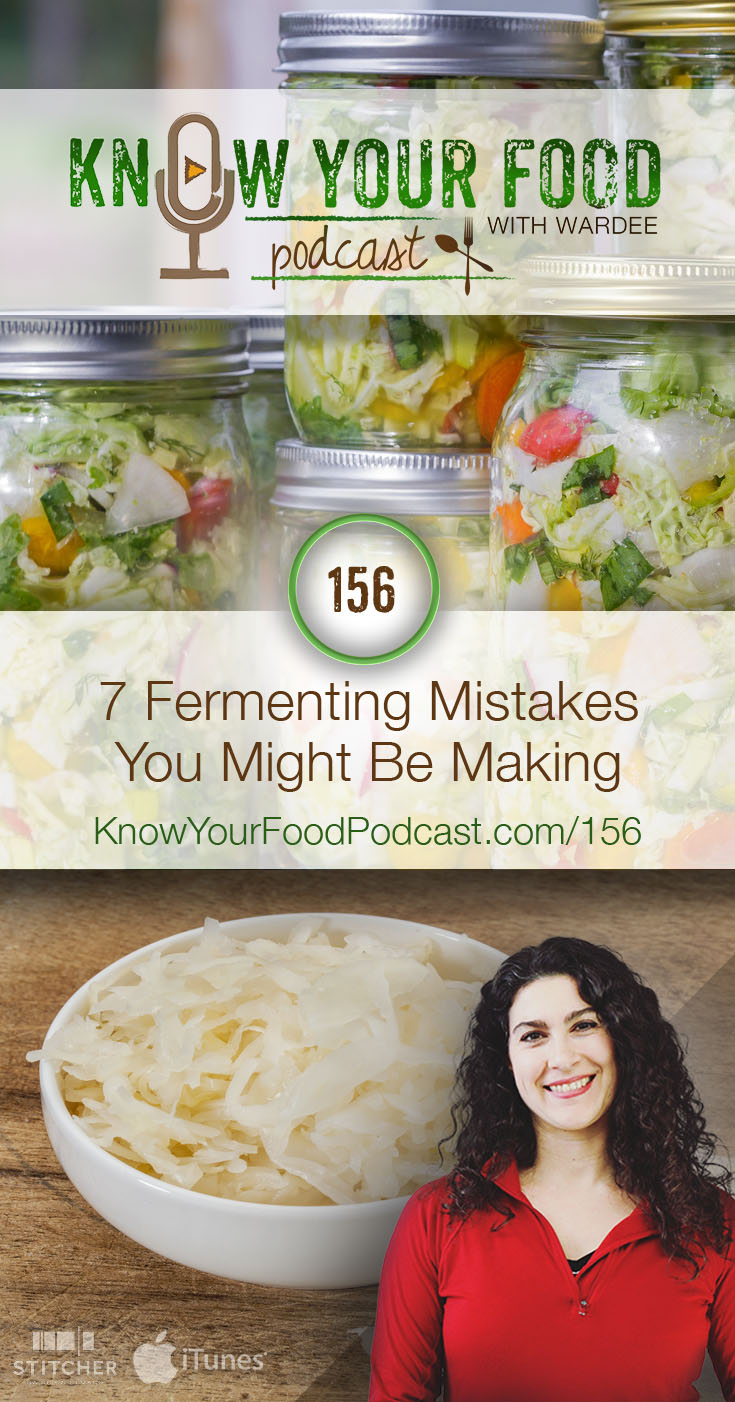 7 Fermenting Mistakes You Might Be Making | Had trouble fermenting? It can be a challenge to feel like you've got the hang of it. If you're having trouble, the fix is usually something very simple you can tweak or change. Are you making any of these 7 common fermenting mistakes? If so, take a step back, then start again using these simple suggestions. | KnowYourFoodPodcast.com/156
