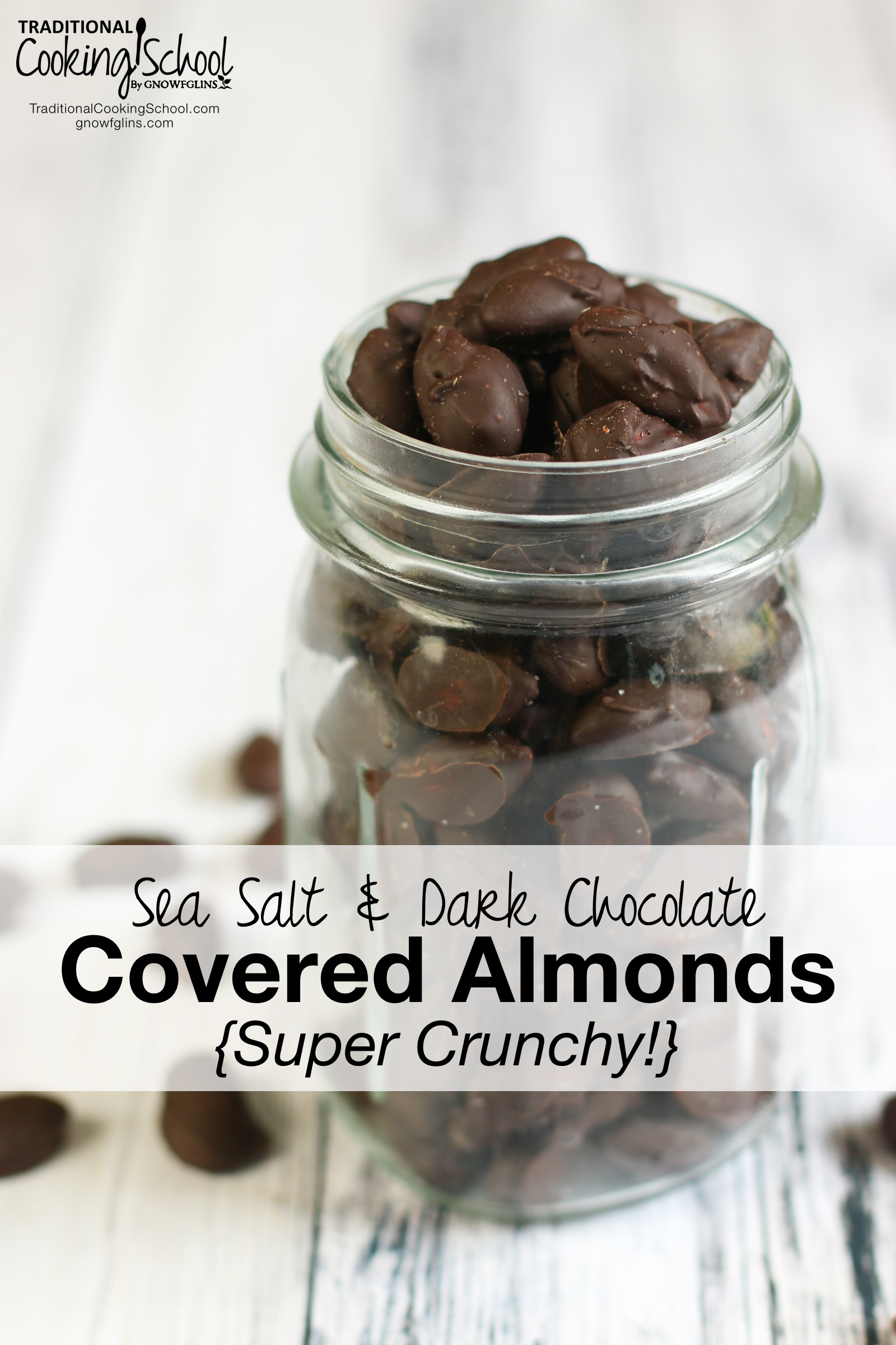 Sea Salt & Dark Chocolate Covered Almonds {Super Crunchy!} |