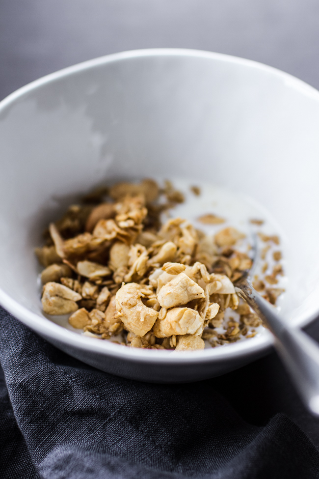The Great Granola Round-Up: 31 Deliciously Nourishing Recipes! | Is there anything easier than a bowl of cereal for breakfast? No cooking, no waiting -- just pour the cereal, pour the milk, and chow down! Make up a batch (or 2 or 5!) of these deliciously nourishing granola recipes, then sit back and savor a bowl of granola any time of day. | TraditionalCookingSchool.com