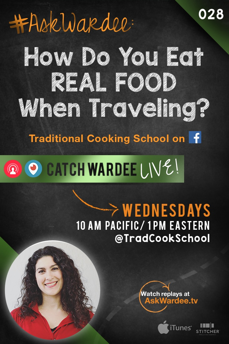 "#AskWardee 028: How Do You Eat Real Food When Traveling? | ""How do you eat Real Food when traveling?"" asks Amanda G. on today's #AskWardee. Before deciding what to eat, I have to identify a few things first: are we flying or driving? Will I be able to cook or have access to a refrigerator? Do I need special utensils or appliances? Once I know the answers, I can eat Real Food wherever I go! Here's how... 