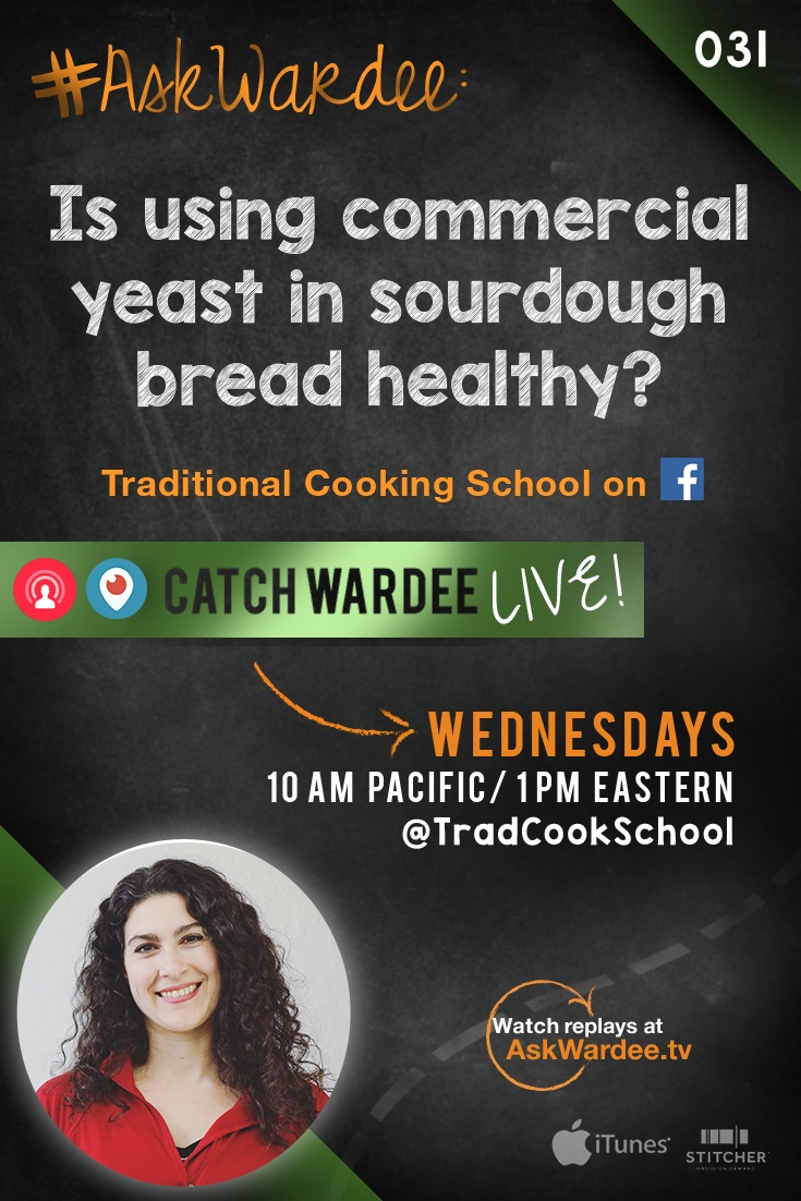 "#AskWardee 031: Is Using Commercial Yeast In Sourdough Bread Healthy? | ""Is using commercial yeast in sourdough bread unhealthy?"" asks Cheri D., who sprouts her wheat before using it in her sourdough preparation, so she can shortcut her rising time. But what if you're not using sprouted flour and you want a less sour bread? I'm answering all these questions on today's #AskWardee! 