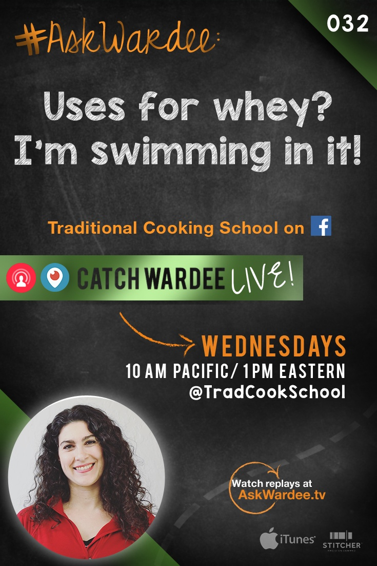 "#AskWardee 032: Uses For Whey? I'm Swimming In It! | ""I need ideas and uses for whey! I am swimming in it!"" exclaims Julia A. on today's #AskWardee. I explain what whey is and give 11 creative uses for whey that you'll love -- especially if you have an abundance! 
