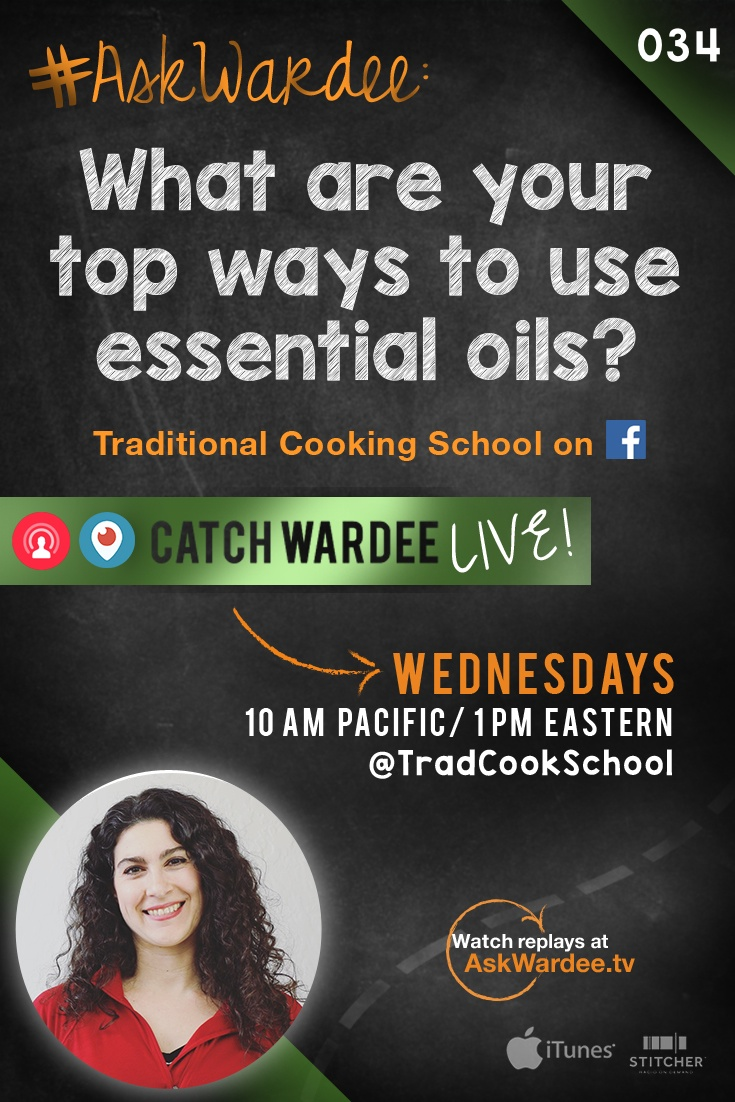 """What are your top ways to use essential oils?"" asks Julie B. on today's #AskWardee. Watch, listen, or read to find out my 8 favorite uses for essential oils + what brand is my favorite! 