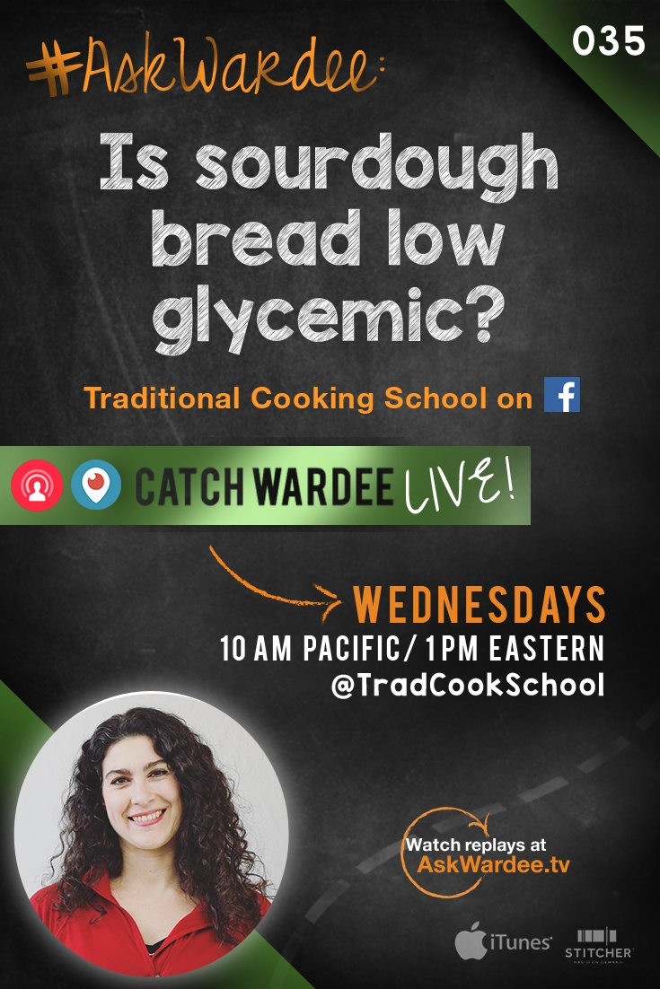 """""""Is sourdough bread low glycemic?"""" asks Shannon D. on today's #AskWardee. Watch, listen, or read to learn about sourdough bread and blood sugar! 