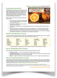 Cooking With Essential Oils Cheat Sheet Traditional Cooking School by GNOWFGLINS small blurred