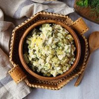 A festive Russian gathering always includes a lineup of chopped salads. Make this yummy probiotic potato salad a meal of its own, or serve it with a cup of soup and crusty bread!