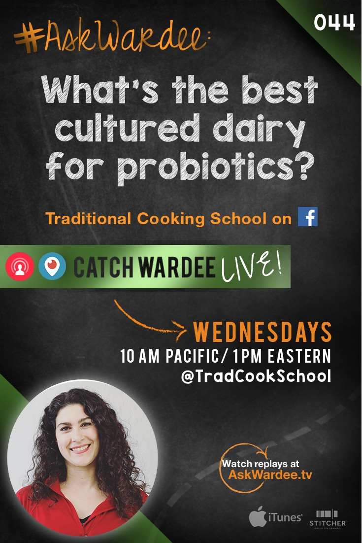 Kefir, yogurt, clabber... With all the options out there, which one is the cultured dairy with the most probiotics?? Watch, listen, or read to find out my answer!   AskWardee.tv