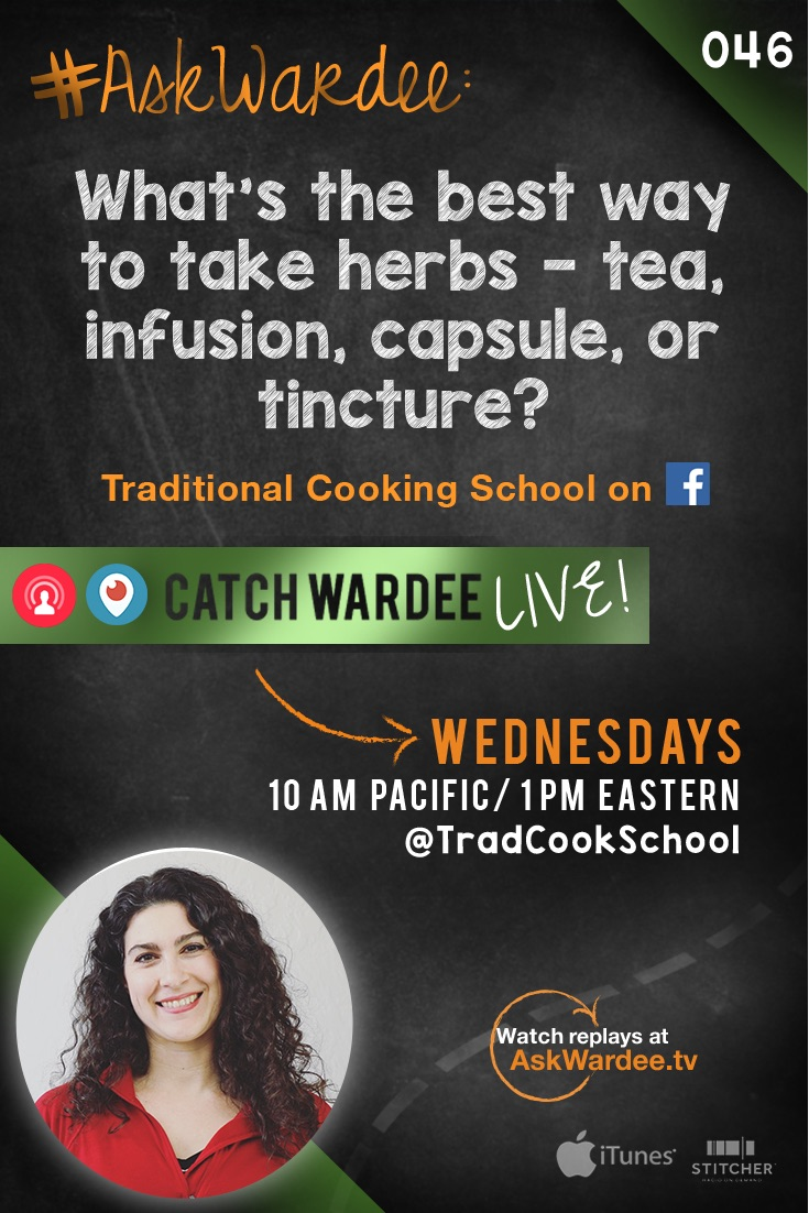 What's the best way to take herbs? It's the herbal supplement showdown… Tea, infusion, capsule, or tincture? Watch, listen, or read to find out my answer! | AskWardee.tv