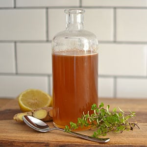 Cough Syrup {with fresh thyme