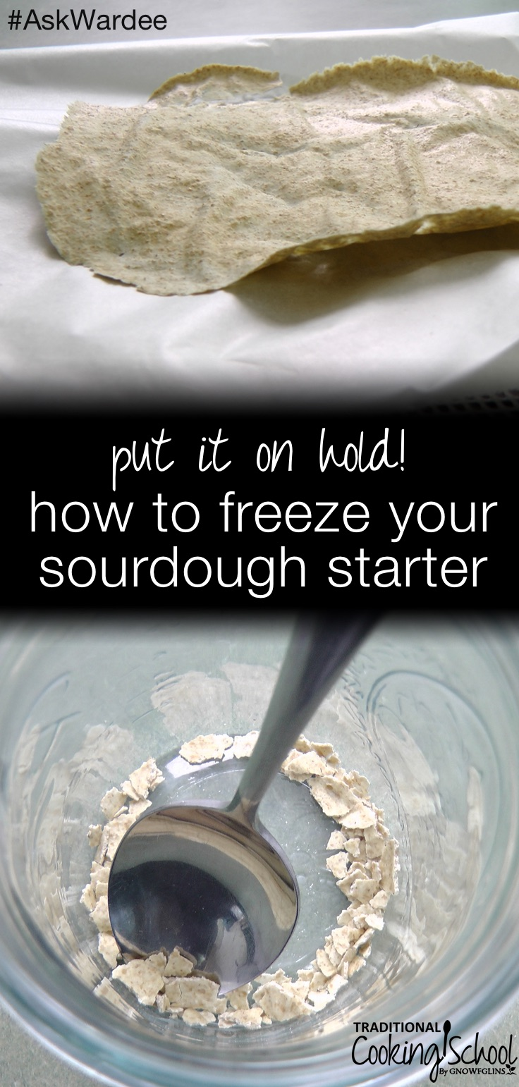 Can you freeze sourdough starter? The short answer is: yes. Some people just put the sourdough starter as-is in a bag in the freezer, yet I'm going to suggest a better way to do it... My way takes up less space and is easier to share with others. Watch, listen, or read to learn the best way to freeze sourdough starter and then bring it back to life! | AskWardee.tv