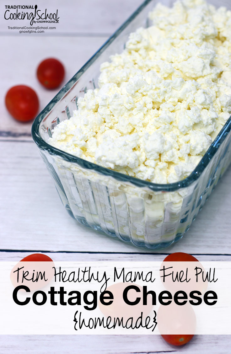 Over 100 people asked me to share my recipe for homemade Trim Healthy Mama-friendly cottage cheese! (Pssst! It's *not really* cottage cheese!) It's wayyyyy easier than traditional homemade cottage cheese and wayyyyy cheaper than the best cultured store-bought cottage cheese! Goes great with either S or E meals and snacks!