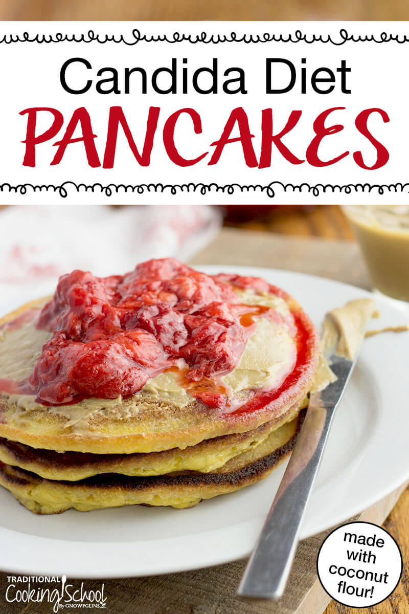 When wheat made our guts unhappy and syrup fed harmful candida, Saturday mornings were suddenly depressing. Well, no more! We happily enjoy THESE grain-free pancakes made with coconut flour and topped with strawberries!
