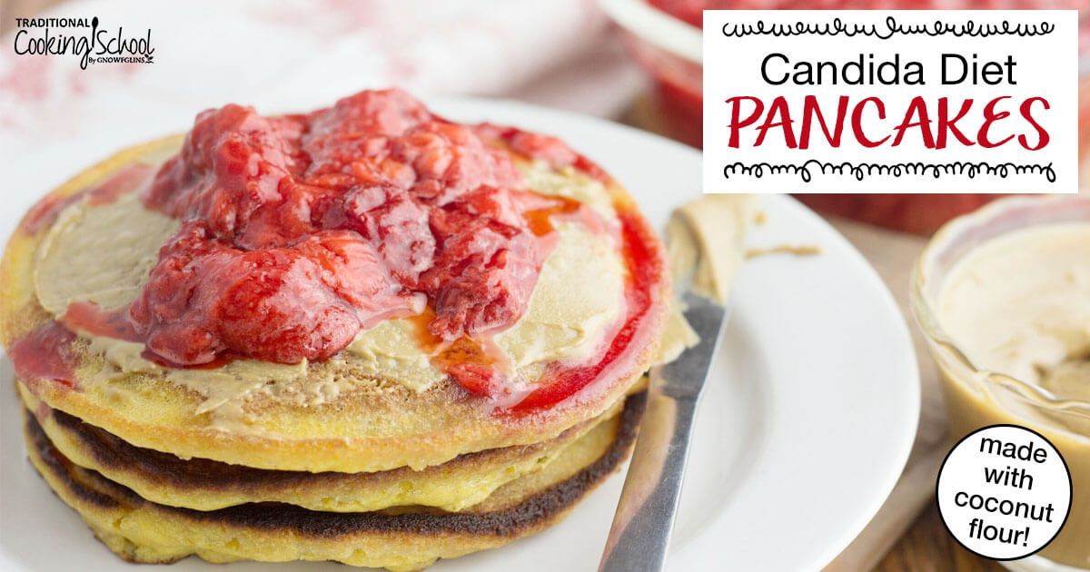 Candida Diet Pancakes {made with coconut flour!}