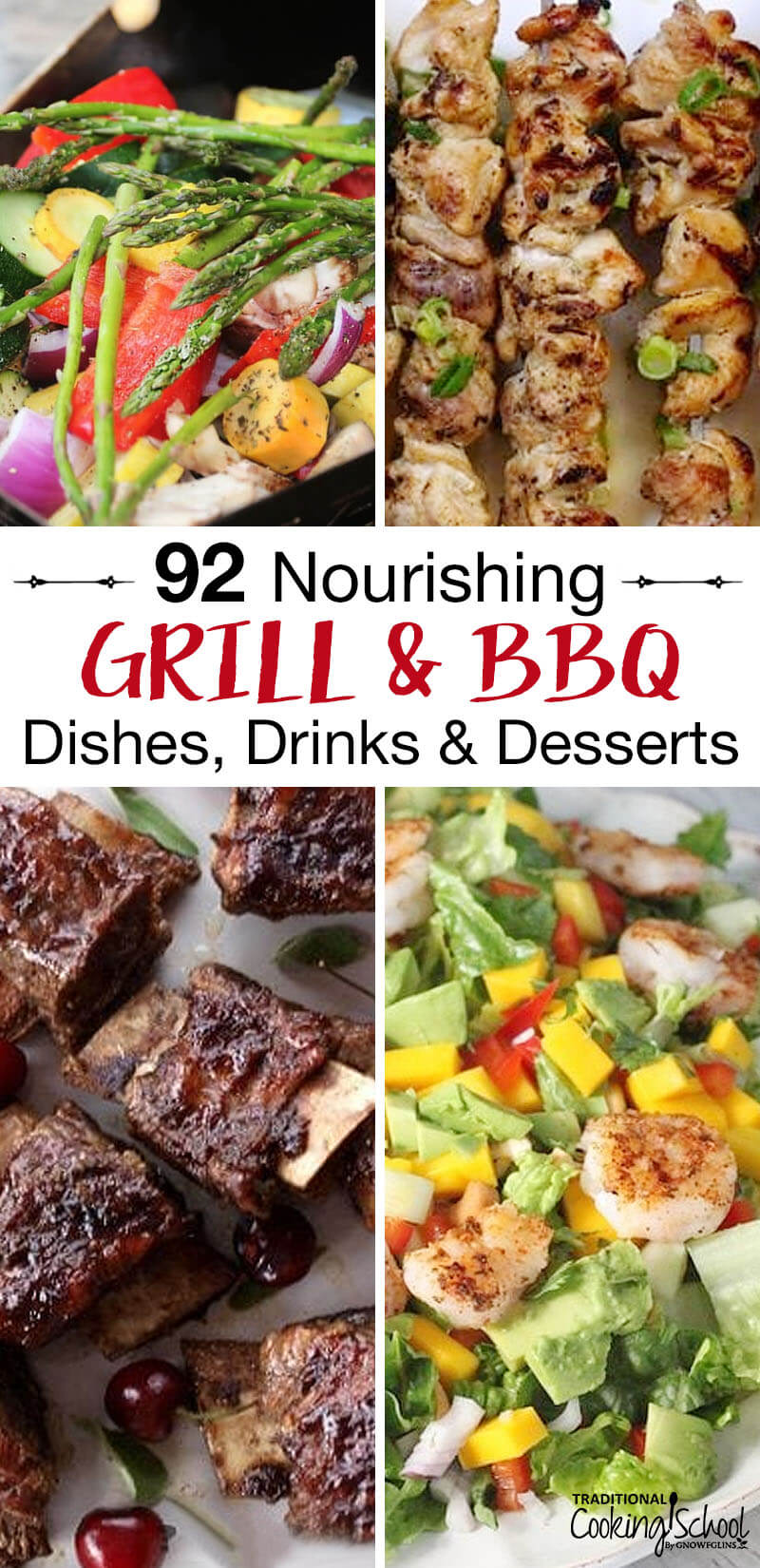 Its finally time to move the cooking outside, play yard games, and enjoy the heat! We've gotcha covered with these nourishing grill and barbecue dishes, drinks, and desserts! Traditional Cooking School
