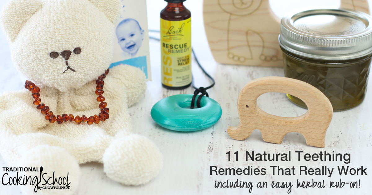 11 Natural Teething Remedies That Really Work! + herbal rub-on 3370f980f