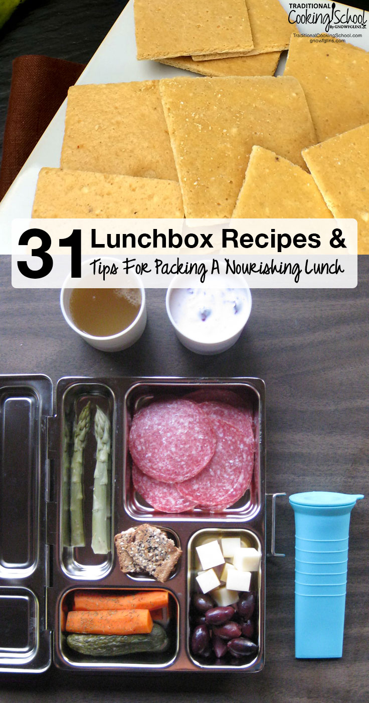 Simplify your lunchbox routine while developing an arsenal of healthy food choices your family will actually eat and enjoy! Here are 31 lunchbox recipes and tips for packing a nourishing lunch for school or work!
