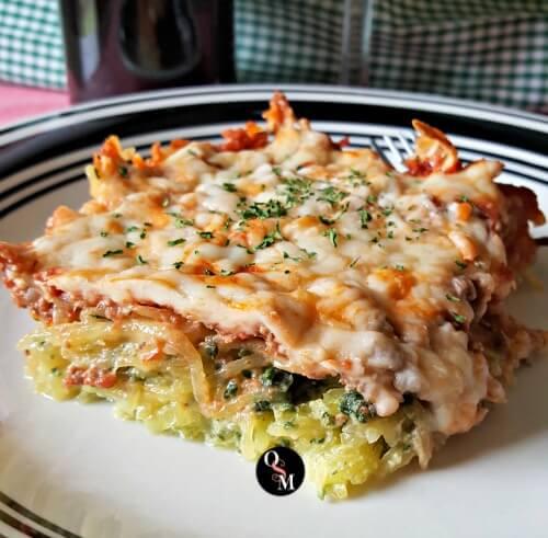 piece of spaghetti squash lasagna
