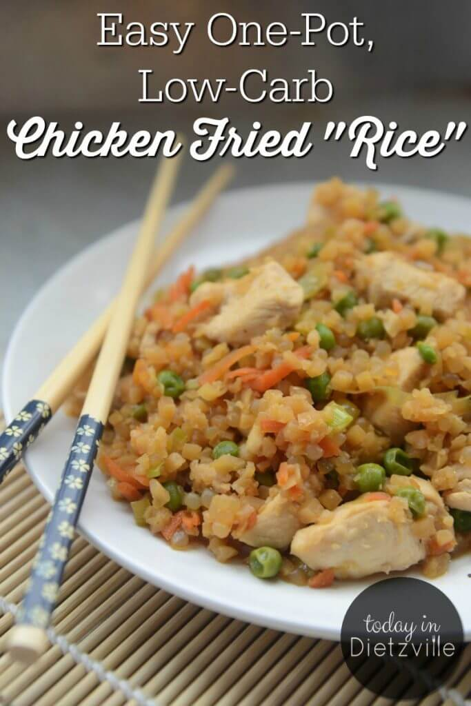 chicken fried rice with chopsticks