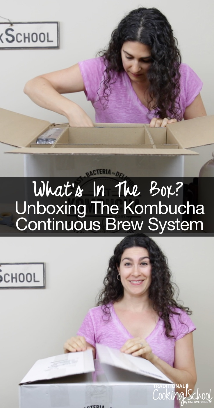 What's In The Box? Unboxing The Kombucha Continuous Brew System | We love Kombucha so much that we decided to add another brewing system to our traditional foods kitchen! I'm unboxing the Kombucha continuous brew system that we love so much. All it takes is a Phillips screwdriver and 5 minutes to put together! | TraditionalCookingSchool.com