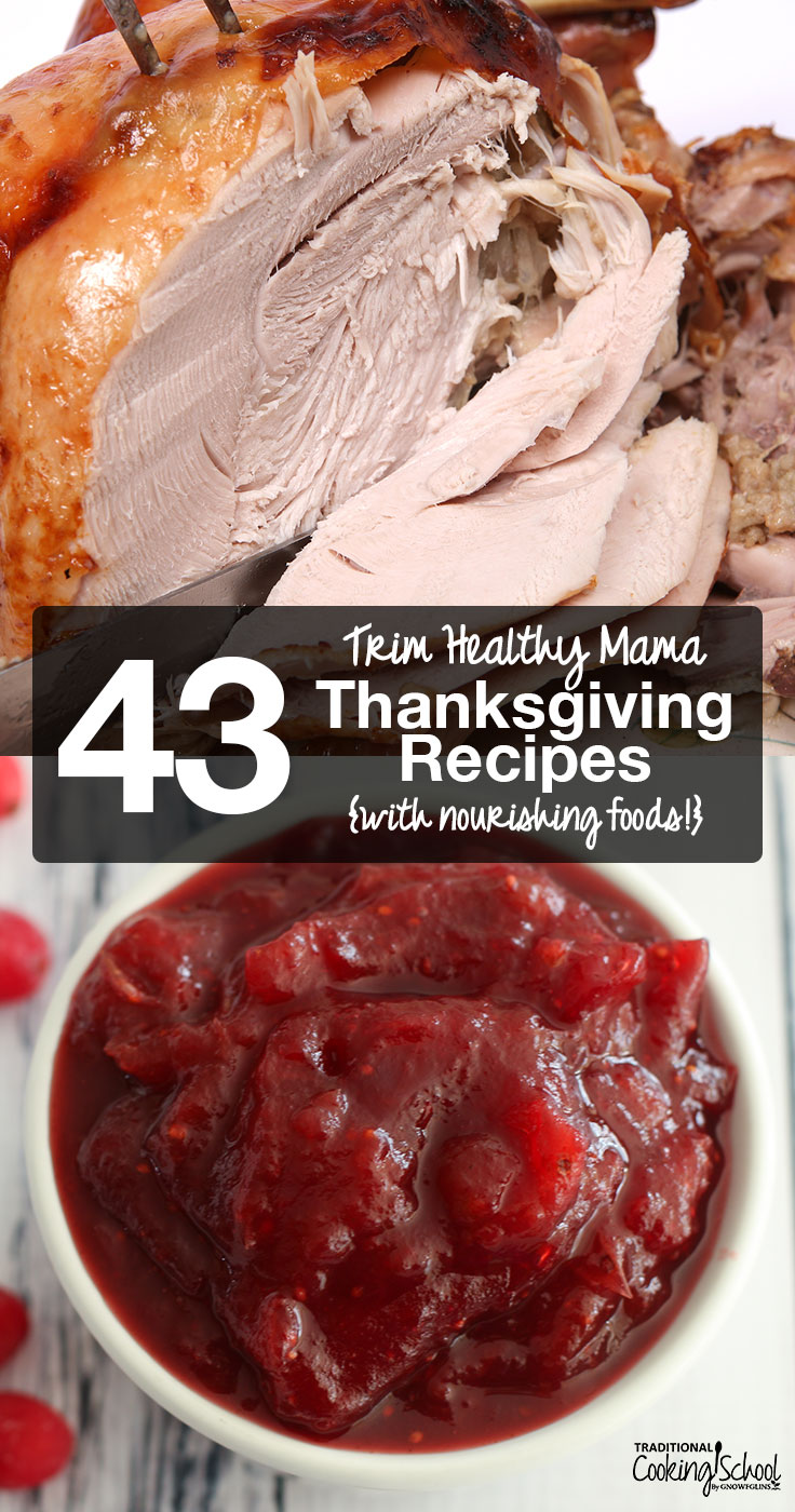 It can be difficult to come by nourishing, traditional foods no matter what the season. Throw in Trim Healthy Mama, and things get even more complicated! So, here's a cornucopia of Trim Healthy Mama Thanksgiving recipes, including Satisfying, Energizing, and Fuel Pull dishes -- all made completely from Real Food!