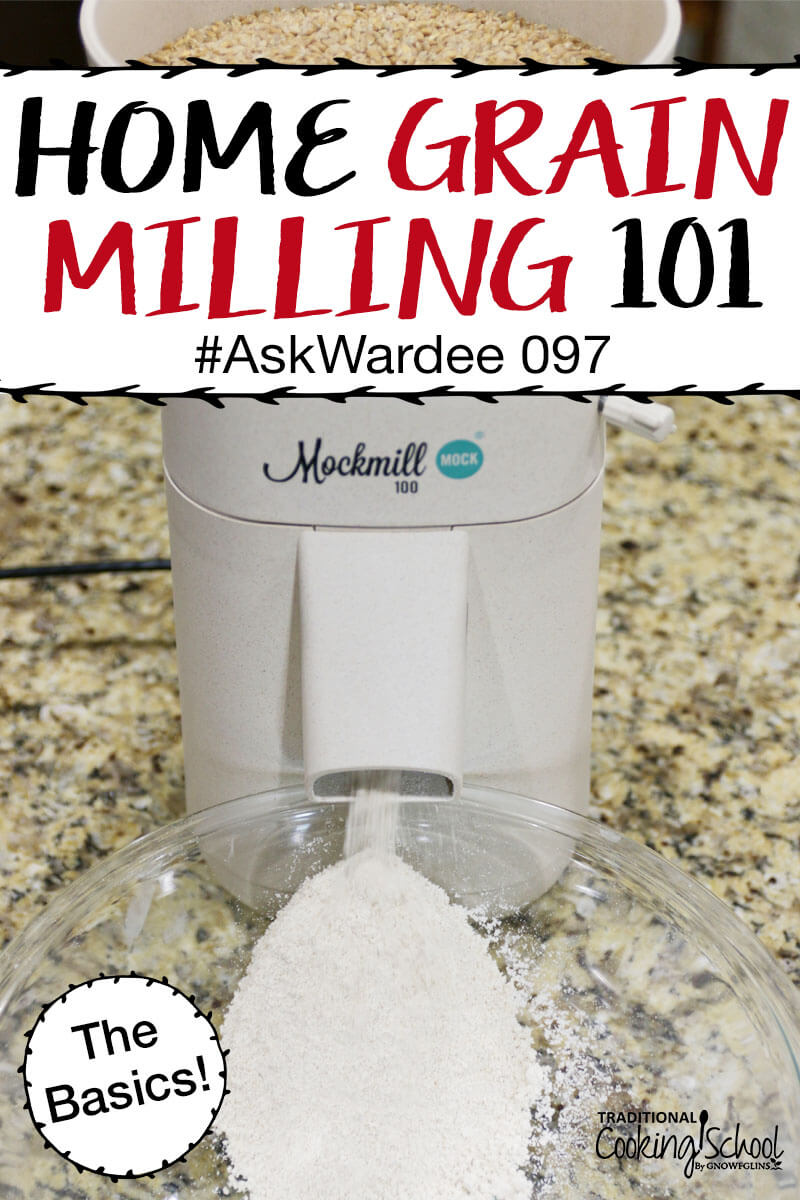 Grain mills, whole grains, milling flour... oh my! You had lots of questions about home grain milling, like... what are the types of grain mills and which one should I buy? What grains should I use and where can I get them? And most importantly, why would I want to mill my own flour anyway?! Watch, listen, or read for my answers on the basics of home grain milling!