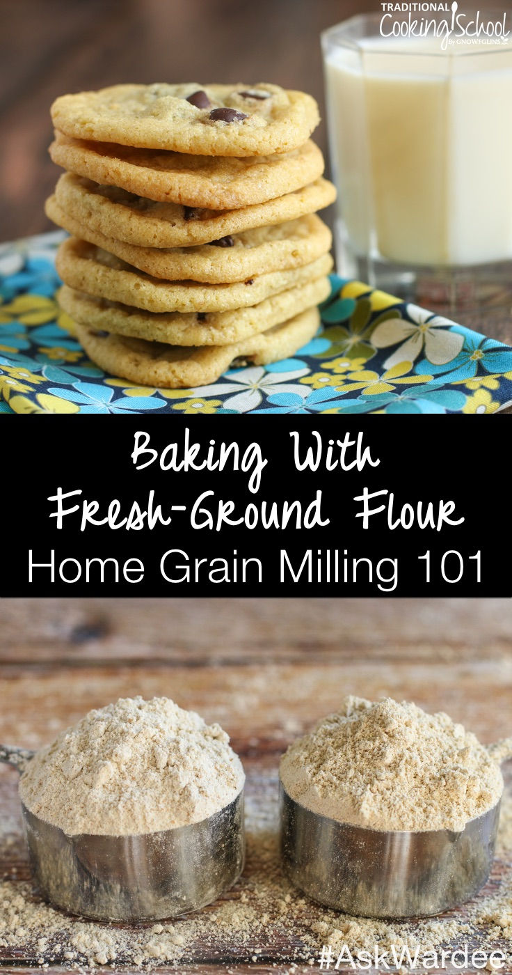 Baking with fresh-ground flour and baking with store-bought flour ARE NOT the same! Watch, listen, or read to learn my tips and tricks for getting the light and fluffy baked goods using home-milled flour and traditional preparation methods, when to sift, baking with sprouted flour, and the best home grain mill to use for great results!