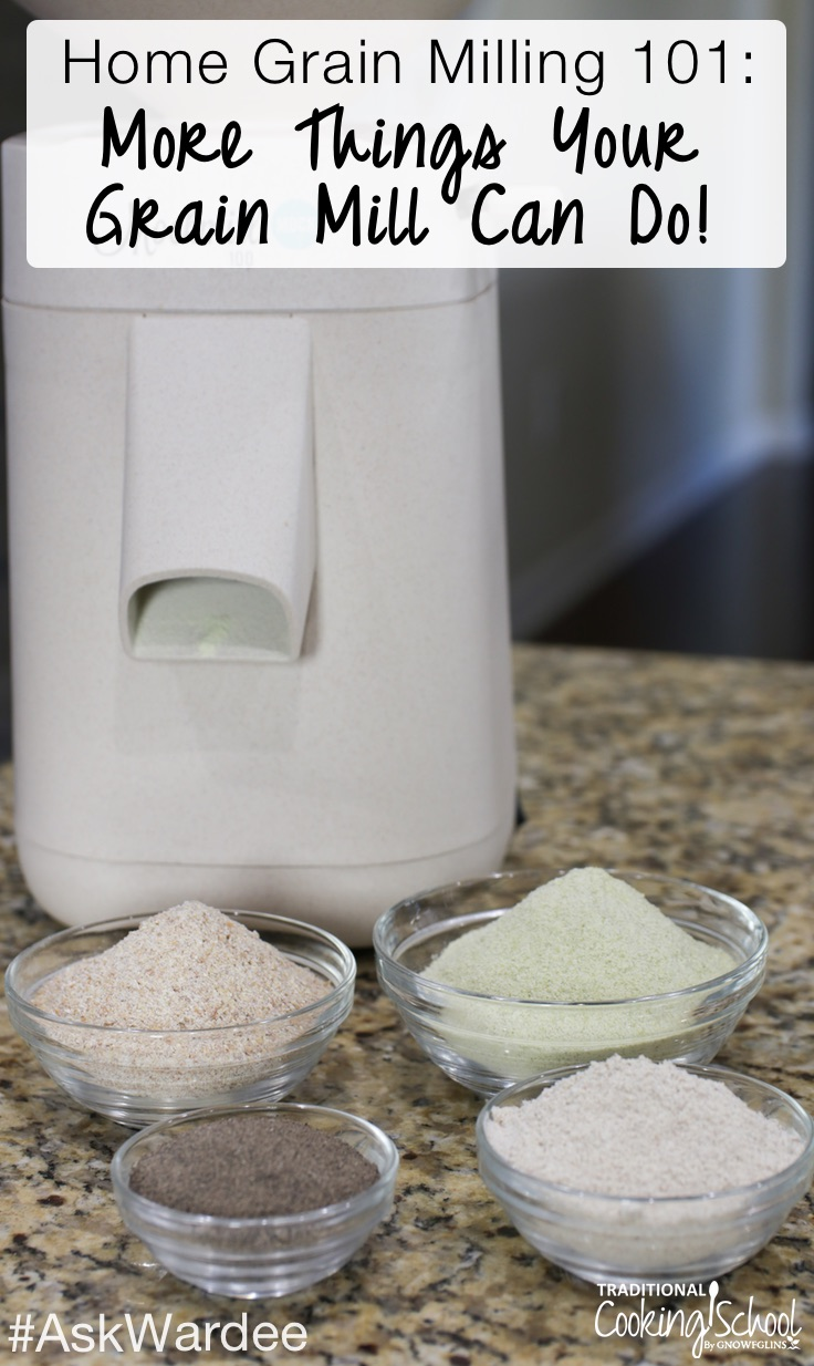 If milling your own fresh-ground flour isn't exciting enough, let's explore other things your grain mill can do! From cracked grains for delicious breakfast porridge and bean flour to spices and powdered sugar, watch, listen, or read to discover how easy and fun it is to use your grain mill for more than just flour!
