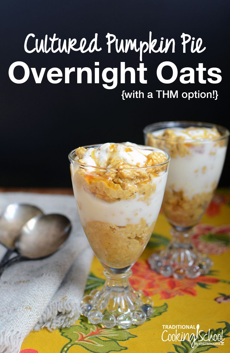 There's no such thing as the perfect breakfast... But, I truly believe that we can combine nourishing foods and get pretty darn close. High in protein and probiotics, these Cultured Pumpkin Pie Overnight Oats are a quick, no-cook, and nourishing breakfast for busy Fall mornings! Perfect for Trim Healthy Mamas needing an E breakfast too!