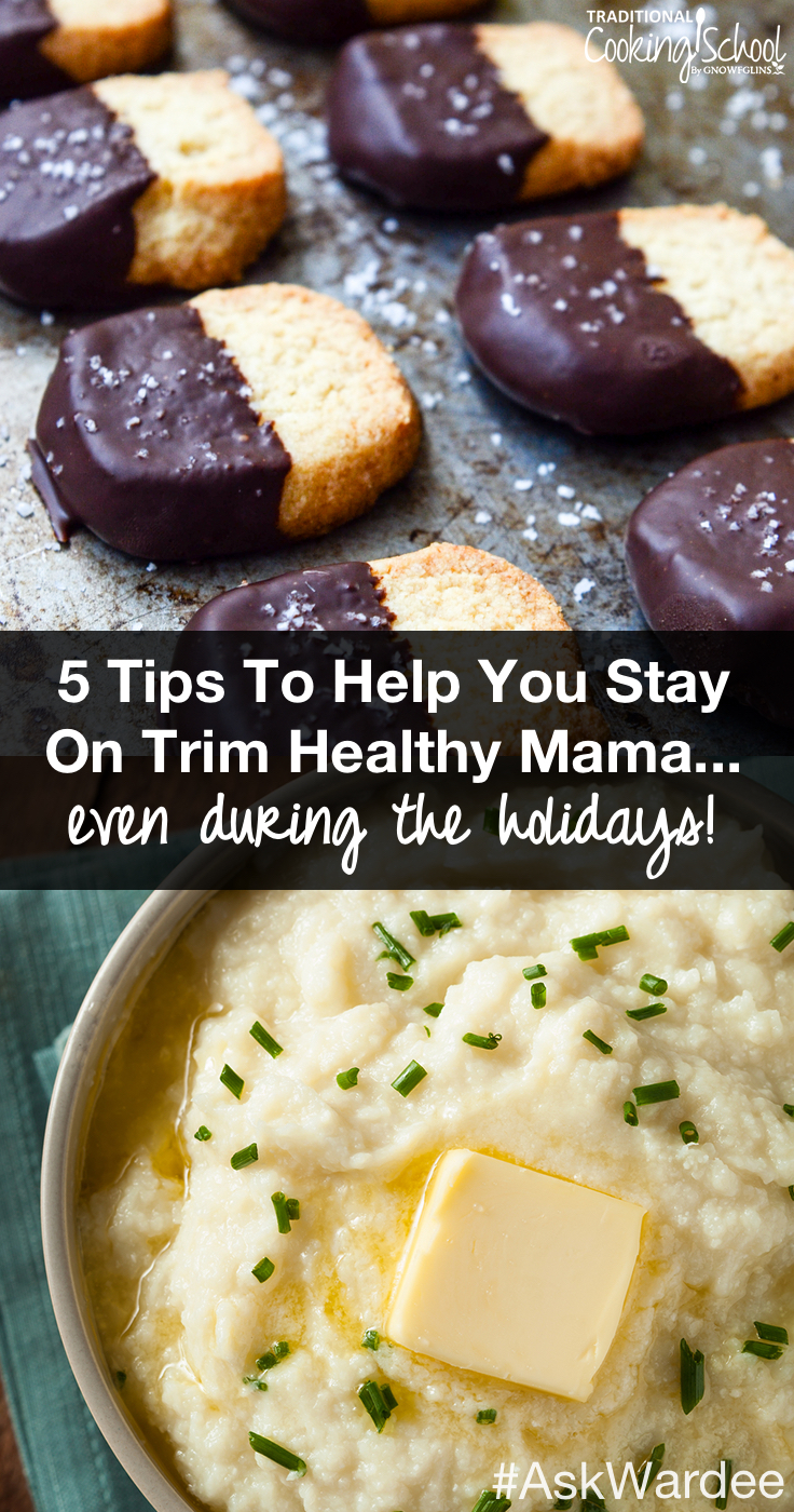 The holidays roll around... and it's so hard to resist those sweets and treats! Is it possible to stick to your healthy eating plan and still enjoy your food? Be encouraged! Not only is it possible to enjoy Trim Healthy holidays, it might be more doable than you think! Watch, listen, or read for my tips to help you stay on Trim Healthy Mama... yes, even during the holidays!