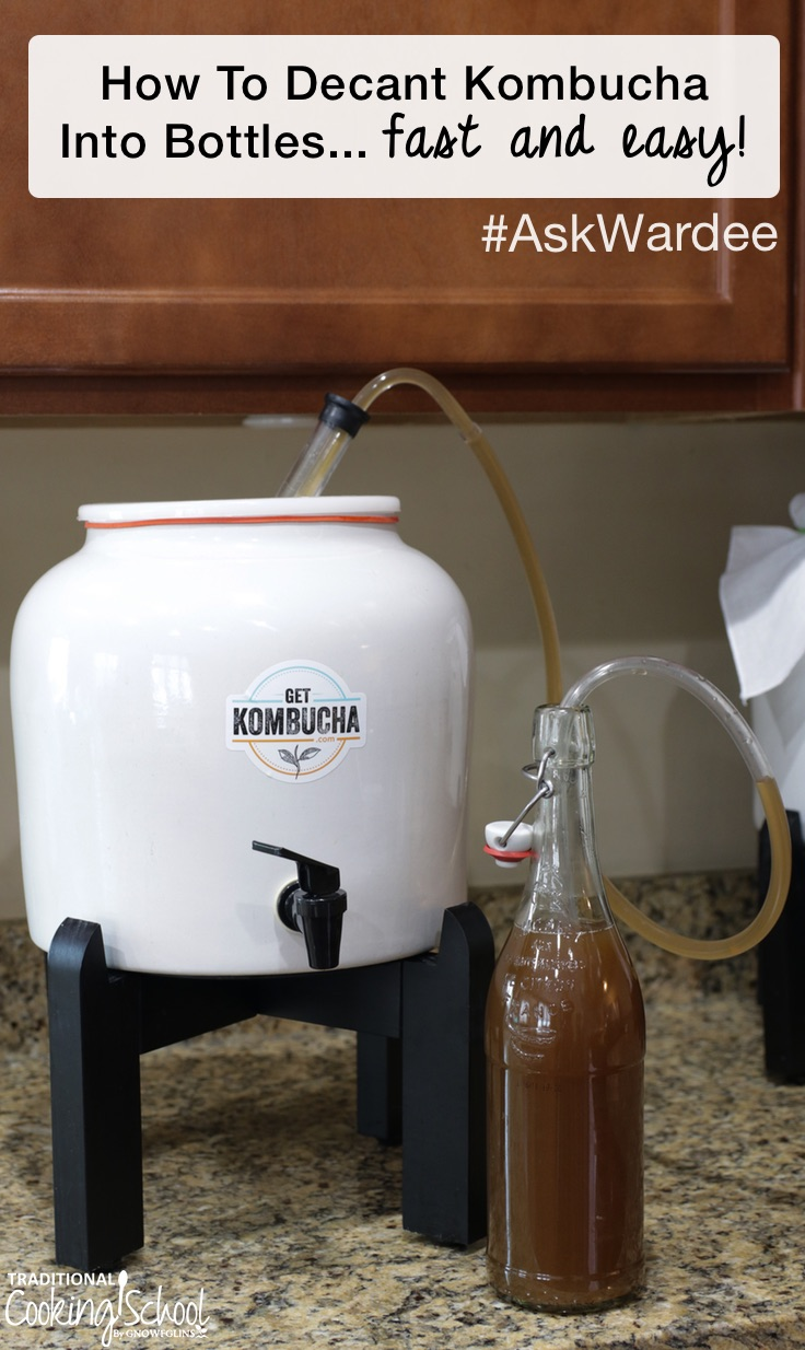 What's the best way to get your Kombucha from the big fermenting vessel into swing-top bottles? Pouring straight from the jar is messy, and Kombucha spills everywhere! Watch, listen, or read to learn how to decant Kombucha into bottles using food grade tubing and an inexpensive auto bottling siphon.